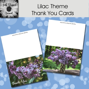 Lilac Themed Thank You Cards