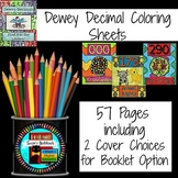 Dewey Decimal Coloring Pages for Book, Lesson, Maker Space
