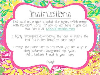 Lilly Inspired Behavior Clip Chart *Editable* | Bright Classroom Decor