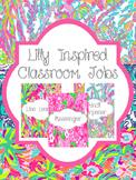 Lilly Inspired Classroom Jobs | Bright Classroom Decor