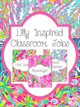 Lilly Inspired Classroom Jobs   Bright Classroom Decor