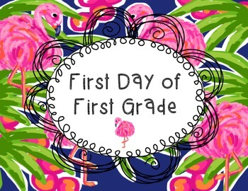"""Lilly Inspired """"Flamingo Road"""" First Day of School Signs"""
