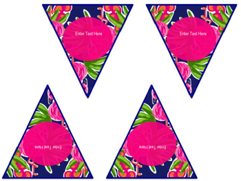 "Lilly Inspired ""Flamingo Road"" Editable Banner"