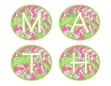 Lilly Inspired Math Workshop Board Set - Pink and Green