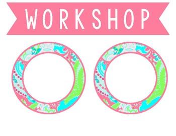 Lilly Inspired Math Workshop Set - Pink, Blue, Green