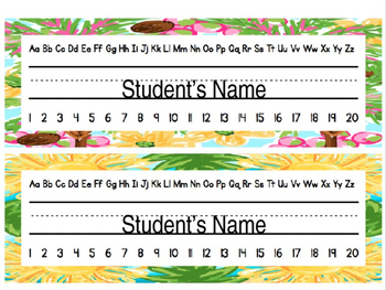 Lilly Inspired Name Plates *Editable*