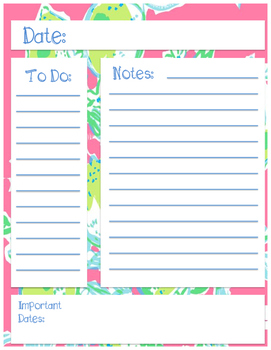 Lilly Inspired Note Page 3