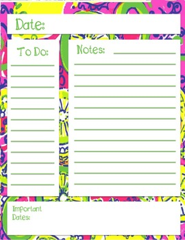 Lilly Inspired Note Page Bundle