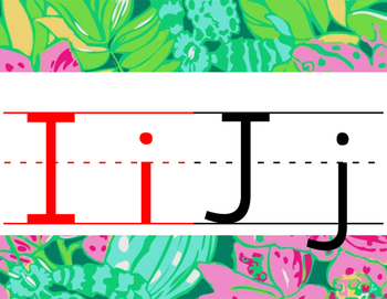 Lilly Inspired Primary Alphabet Strip