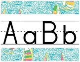 Lilly Inspired Primary Alphabet Strip in You Gotta Regatta