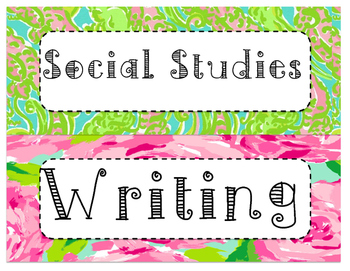 Lilly Inspired Subject Labels