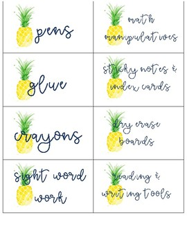 Lilly Inspired Supply and Organization Labels