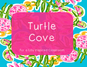 """Lilly Inspired """"Turtle Cove"""" Classroom Decor"""