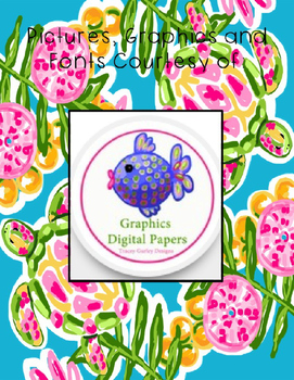 "Lilly Inspired ""Turtle Cove"" Editable Student Folder Covers"