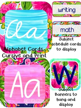 Lilly Love Pink Theme Classroom Decor Pack