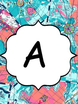 Lilly Pulitzer Alphabet