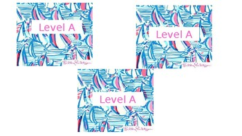 Lilly Pulitzer Book Labels (editable)
