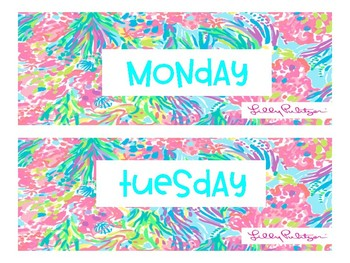 Lilly Pulitzer Class Labels