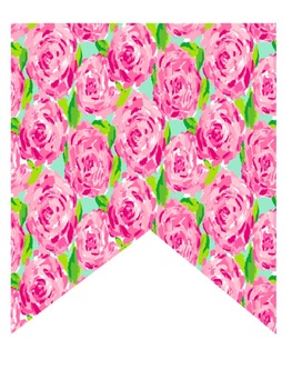 Lilly Pulitzer Inspired Banner