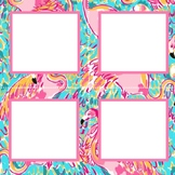 Lilly Pulitzer Inspired Cubby Labels Volume One