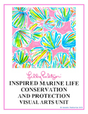 Lilly Pulitzer-Inspired Marine Life Watercolour Painting V