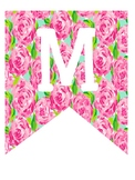 Lilly Pulitzer Inspired Merry and Bright Banner