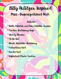 Lilly Pulitzer Inspired Mini- Organizational Pack