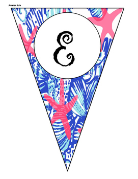 Lilly Pulitzer Inspired Pendant Welcome Banner