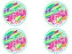 Lilly Pulitzer Leveled Book Bin Labels