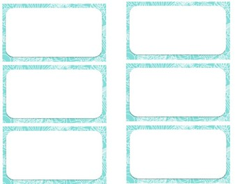 Lilly Pulitzer Name Tag/Note Paper/Labels