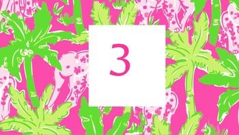 Lilly Pulitzer Numbers 0-20