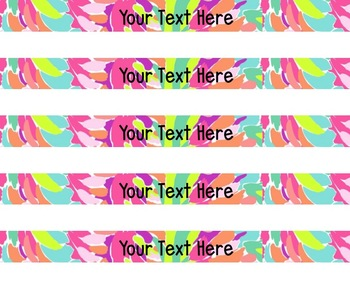 Lilly Pulitzer Inspired Spine Labels Volume One
