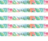 Lilly Pulitzer Inspired Spine Labels Volume Two