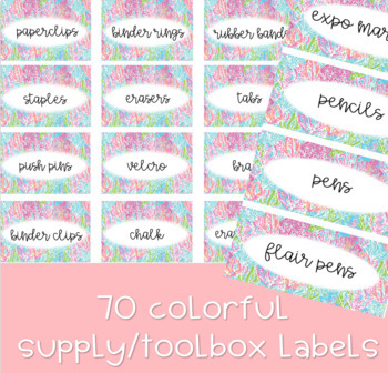 Lilly Pulitzer Teacher Toolbox/Supply Labels