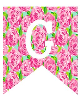 Lilly Pulitzer Inspired Welcome Banner
