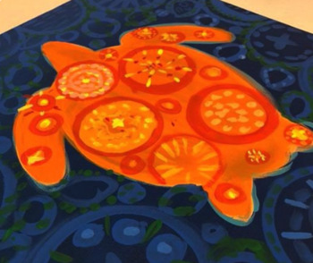 Lilly Pulitzer inspired Ecology Art project: Saving Sea Turtles