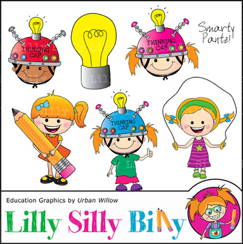 Clipart Thinking Cap Smarty Pantz {Lilly Silly Billy}