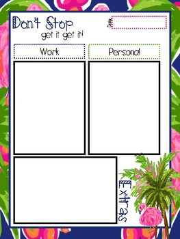 Lilly inspired **FUN** to do lists/note sheets!