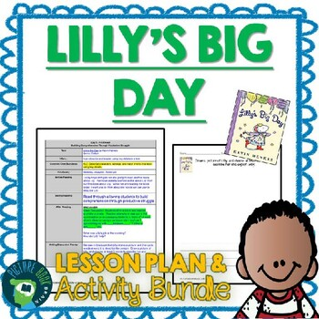 Lilly's Big Day by Kevin Henkes 4-5 Day Lesson Plan and Activities
