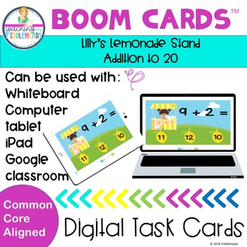 Lilly's Lemonade Stand Adding Within 20 Boom Cards