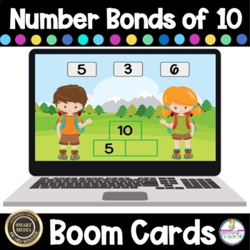 Number Bonds of 10 Digital Boom Cards Freebie