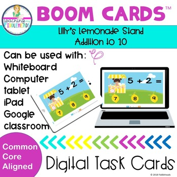 Lilly's Lemonade Stand Adding Within 10 Boom Cards