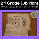 Lilly's Purple Plastic Purse 2nd Grade Sub Plans Day 1