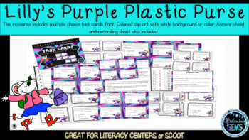 Lilly's Purple Plastic Purse Character Trait Task Cards