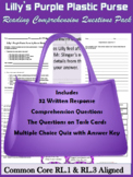 Lilly's Purple Plastic Purse Comprehension Questions CCSS