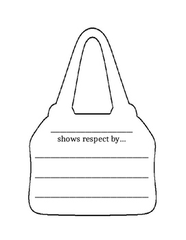 Lilly's Purple Plastic Purse Written Response - Purse Template