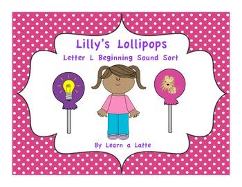 Lilly's Lollipops - Letter L Beginning Sound Sort