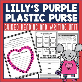 Extend the fun with Lilly's Purple Plastic Purse with this book companion. It includes before, during, after activities with a comprehension focus.