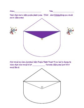 Lilly's Purple Plastic Purse Package