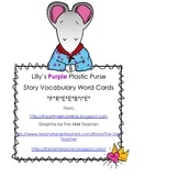 Lilly's Purple Plastic Purse Vocabulary FREEBIE